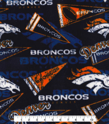 Denver Broncos Fleece Fabric -Retro