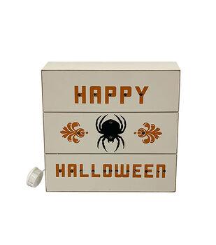 Maker's Halloween LED Word Block-Happy Halloween