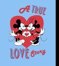 Disney Mickey & Minnie No-Sew Fleece Throw 72\u0022-A True Love Story