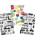 Simple Stories Travel Notes 3 pk 4\u0027\u0027x6\u0027\u0027 Clear Stickers