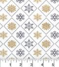 Maker\u0027s Holiday Cotton Fabric 43\u0022-Metallic Flakes in Triangles