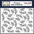 Echo Park Stencil 6\u0022X6\u0022-Olive Branch