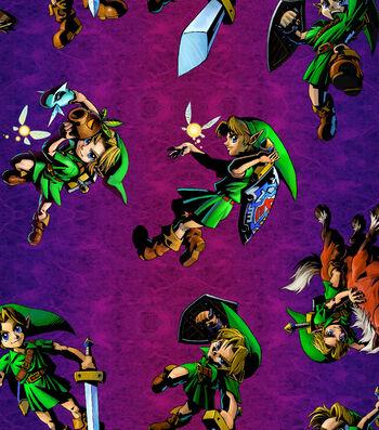 "Nintendo The Legend of Zelda Cotton Fabric 43""-Toss"
