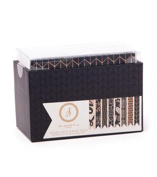 Ms. Sparkle & Co. A2 Cards & Envelopes-Indigo Kraft & Rose Gold