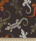 Aztec Lizard Print Fabric