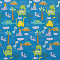 Super Snuggle Flannel Fabric-Dinos and Clouds