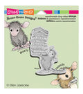 Stampendous House Mouse Cling Rubber Stamp 3.5\u0022X4\u0022 Sheet-Stack Of Books