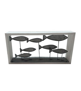 Indigo Mist Swimming Fish Tabletop Decor
