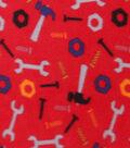Blizzard Fleece Fabric 59\u0022-Construction Tools