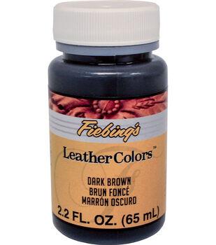Fiebing's 2.2 fl. oz. LeatherColors Leathercraft Dye-Dark Brown