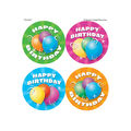 Teacher Created Resources Birthday Wear \u0027Em Badges, 32 Per Pack, 6 Packs