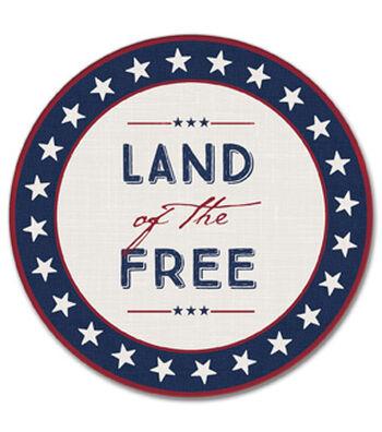 Americana Patriotic 4 pk Coasters-Land of The Free & Stars