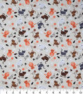 Novelty Cotton Fabric-Whimsical Mixed Cat Theme