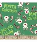 Christmas Print Fabric-Reindeer Candy