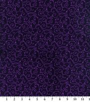 Keepsake Calico Cotton Fabric -Elegant Purple Vine, , hi-res