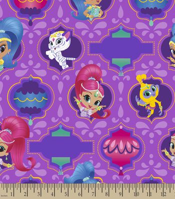 Nickelodeon Print Fabric-Shimmer & Shine Badges