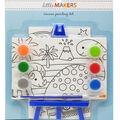 Little Makers 2Pk 4X6 Canvas Easel Kit-Dinosaur