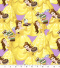 Disney Beauty and the Beast Cotton Fabric -Belle and Friends