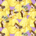 Disney Beauty & the Beast Cotton Fabric-Belle & Friends
