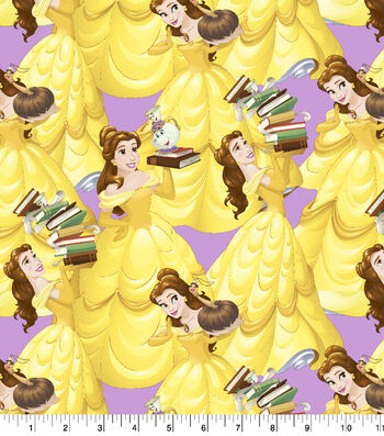 """Disney Beauty and the Beast Cotton Fabric 43""""-Belle and Friends"""