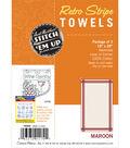 Stitch \u0027Em Up Retro Stripe Towels 18\u0022X28\u0022 3/Pkg