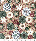 Quilter\u0027s Showcase Cotton Fabric-Floral Medallion on Tan