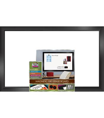 The Board Dudes 22''x35'' Black Framed Magnetic Dry Erase Board