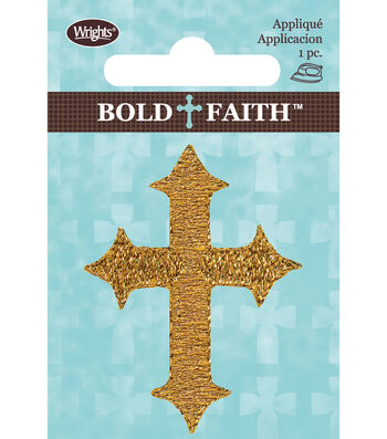 Wrights Bold Faith Iron-On Applique-Many Colors