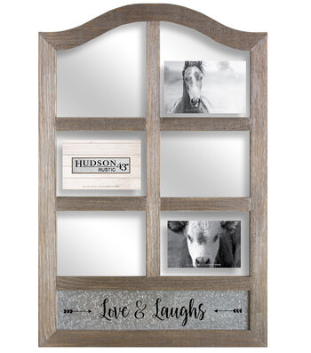 Hudson 43 Rustic Six Opening Photo Collage Frame