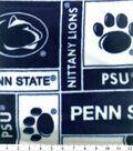 Penn State University Nittany Lions Fleece Fabric 58\u0027\u0027-Block