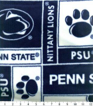 Penn State University Nittany Lions Fleece Fabric -Block