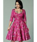 Butterick Pattern B6412 Misses\u0027 Full-Skirted Dress-Size 14-16-18-20-22