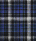 Snuggle Flannel Fabric 42\u0022-Carter Blue Plaid