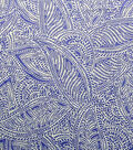 Simply Silky Print Stretch Fabric -Paisley Blue