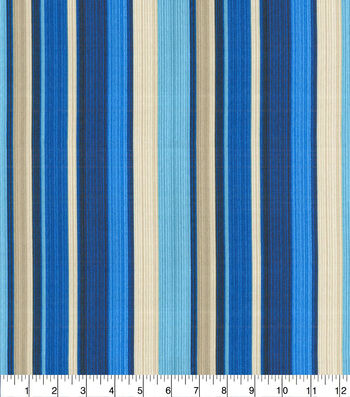 "Waverly Sun N' Shade Outdoor Fabric 54""-Draw the Line Lapis"