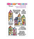 Stampendous Perfectly Clear Stamps 4\u0022X6\u0022 Sheet-Family Home