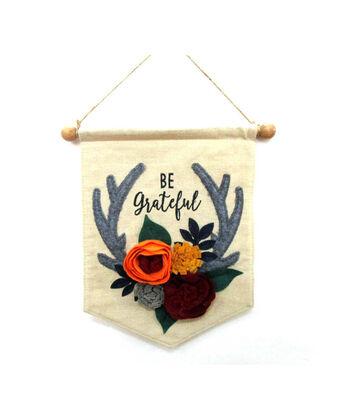 Simply Autumn Linen Banner-Be Grateful