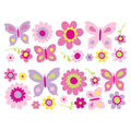 Komar Flowers and Butterflies Stickarounds, 25 Piece Set
