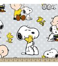 Peanuts Print Fabric-Snoopy and Charlie