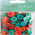 Favorite Findings 130 pk Round Buttons-Twist