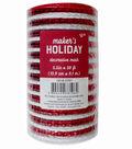 Maker\u0027s Holiday Decorative Mesh Ribbon 5.5\u0027\u0027x30\u0027-Red & White Stripes