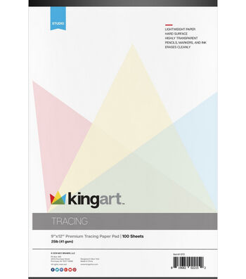 "KINGART Tape Bound Tracing Paper Pad 9""X12"" -100 Sheets"