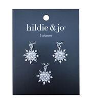 hildie & jo 3 pk Snowflake Charms, , hi-res