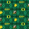 University of Oregon Ducks Flannel Fabric-Tie Dye