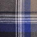Cotton Shirting Fabric 42\u0027\u0027-Gray, White & Blue Plaid