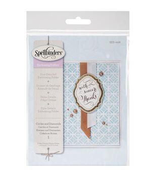 Spellbinders Small Embossing Folder-Circles & Diamonds