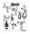 Ranger Dyan Reaveley\u0027s Dylusions Cling Stamps-Cats among Pigeons