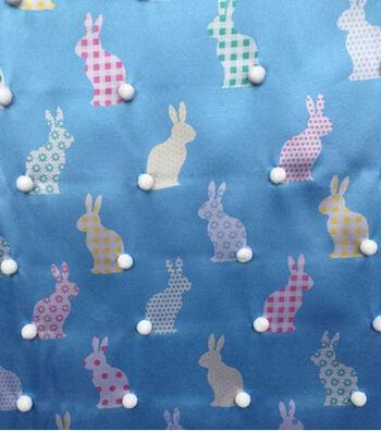 Satin Apparel Fabric 56''-3D Bunny Tail Print