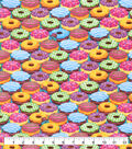 Snuggle Flannel Fabric-Colorful Donuts Packed