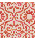 Dancing Damask/candy Apple Swatch